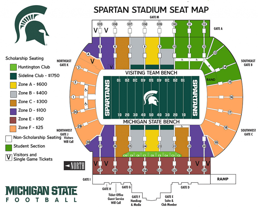 Michigan State Football Game Day Information - Michigan State University regarding Michigan State Football Parking Lot Map