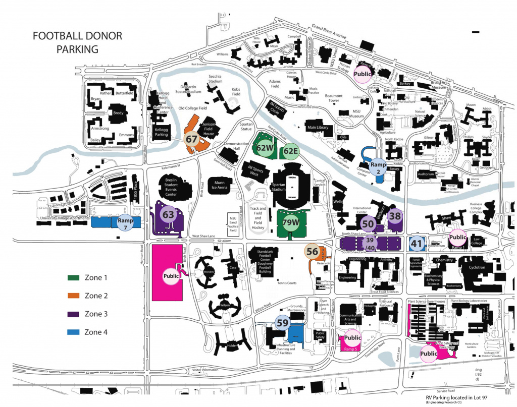 Michigan State Football Parking Information - Michigan State University for Michigan State Football Parking Lot Map