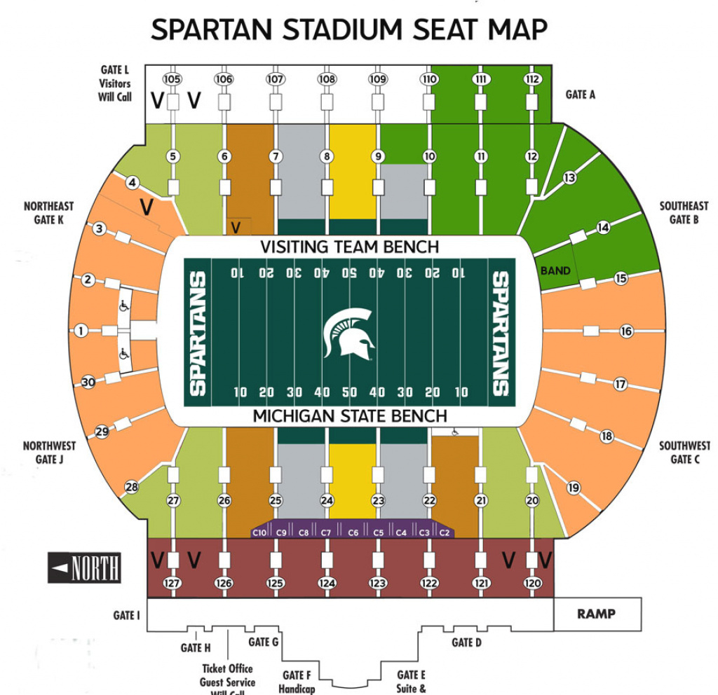 Michigan State Football Vs. Maryland Terps - Replybuy pertaining to Michigan State Football Stadium Map