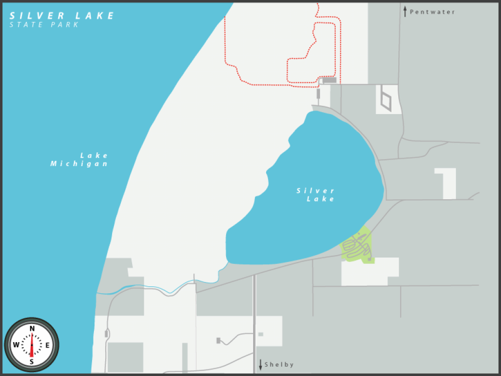Michigan State Parks Online Reservations for Silver Lake State Park Campground Map