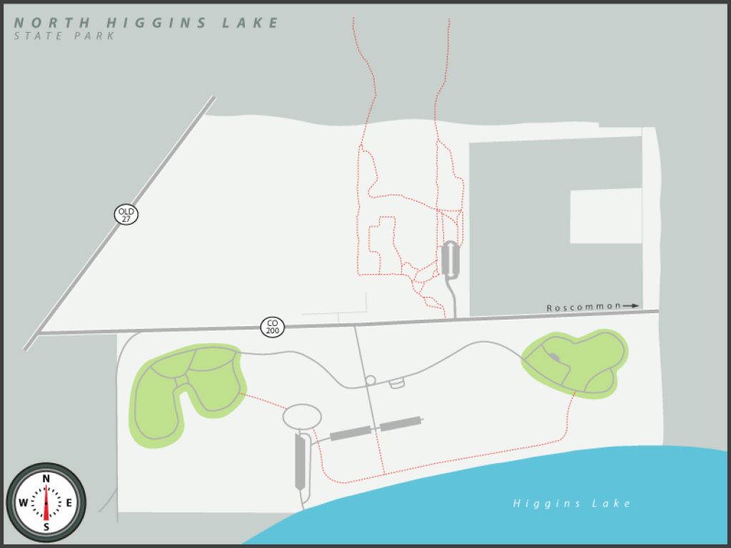 Michigan State Parks Online Reservations intended for South Higgins Lake State Park Map