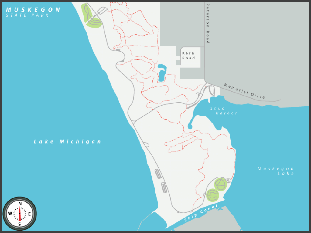 Michigan State Parks Online Reservations regarding Muskegon State Park Campground Map