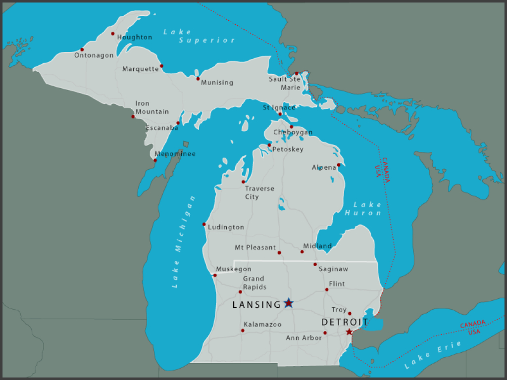 Michigan State Parks Online Reservations with Michigan State Park Campgrounds Map