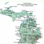 Michigan State Parks : Woodall's Campground Management In Michigan State Park Campgrounds Map