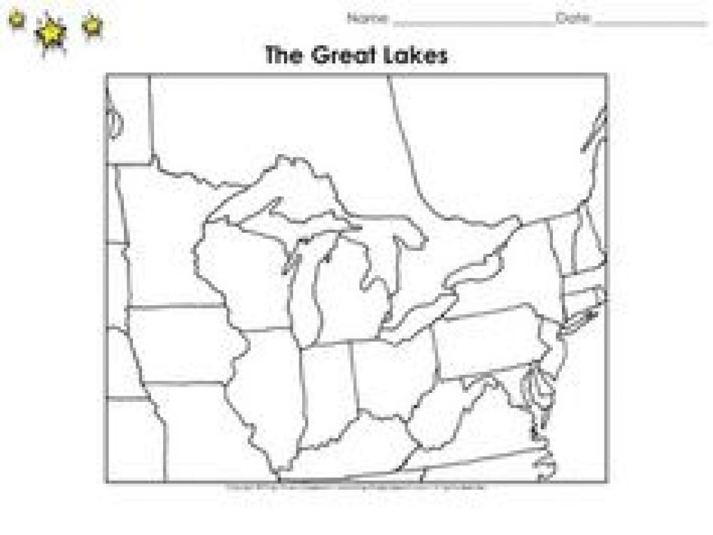 Michigan State Unit Study   Geography, State Symbols & Facts   Unit Inside Great Lakes States Outline Map