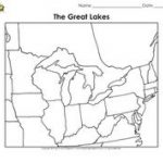 Michigan State Unit Study   Geography, State Symbols & Facts | Unit Inside Great Lakes States Outline Map