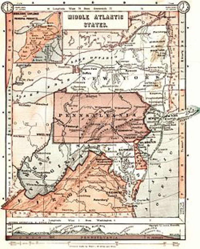 Mid-Atlantic (United States) - Wikipedia within Mid Atlantic States And Capitals Map