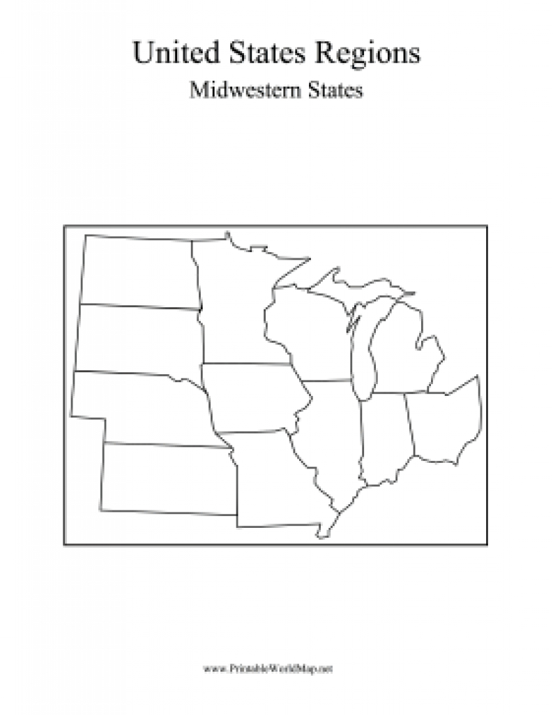 Midwest States Map throughout Blank Map Of Midwest States