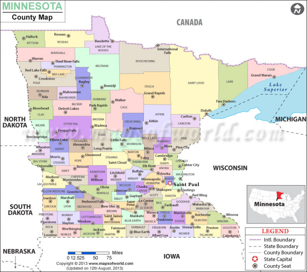 Minnesota County Map   Minnesota Counties for Minnesota State Map With Counties