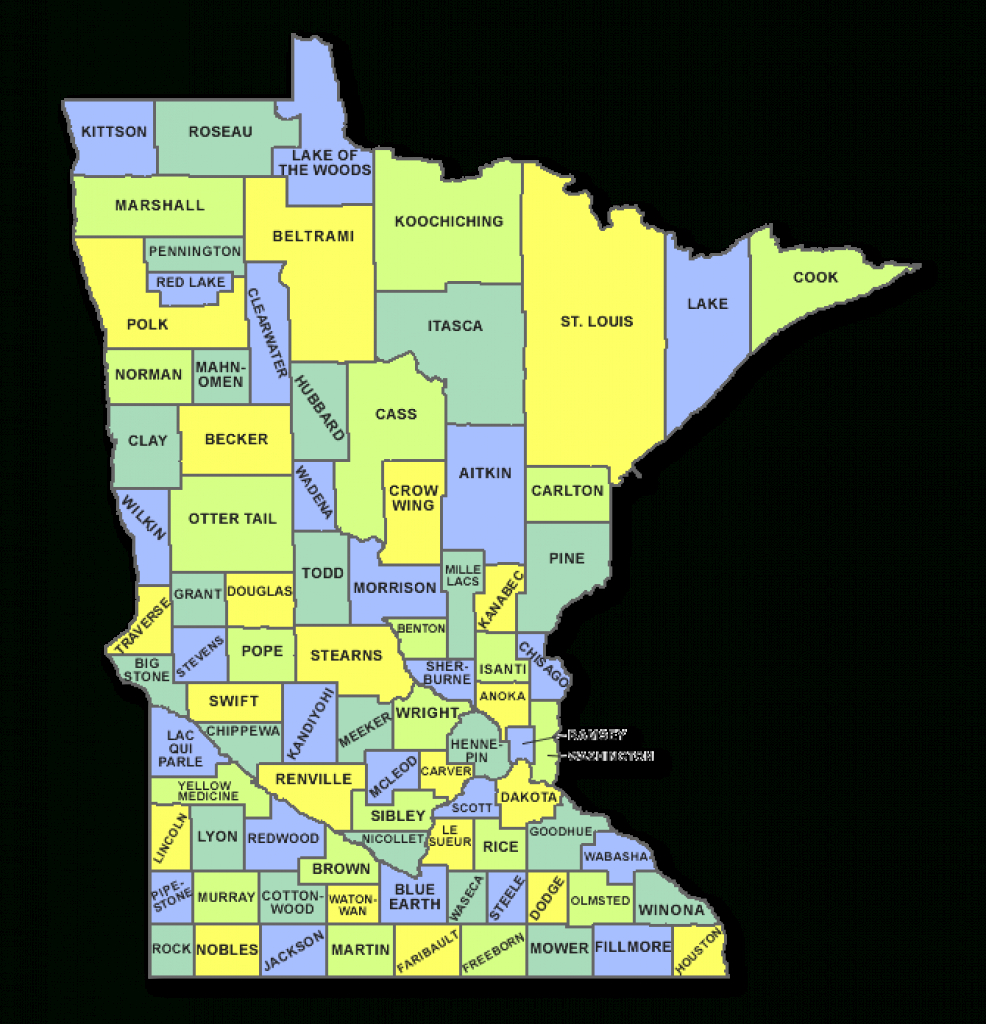 Minnesota Hot Dog Cart Licensing, County, State Rules And with regard to Minnesota State Map With Counties