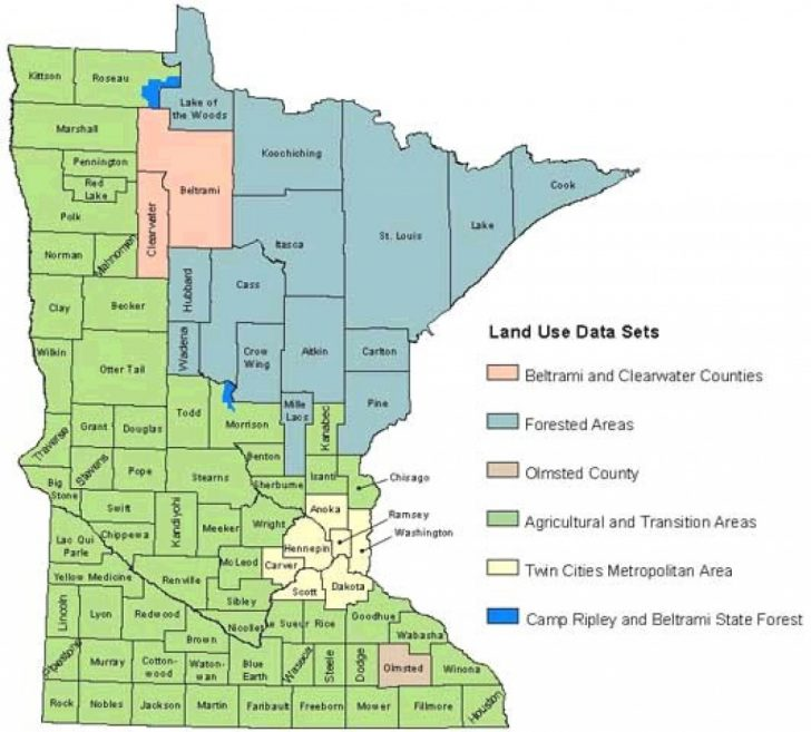 Minnesota State Map With Counties