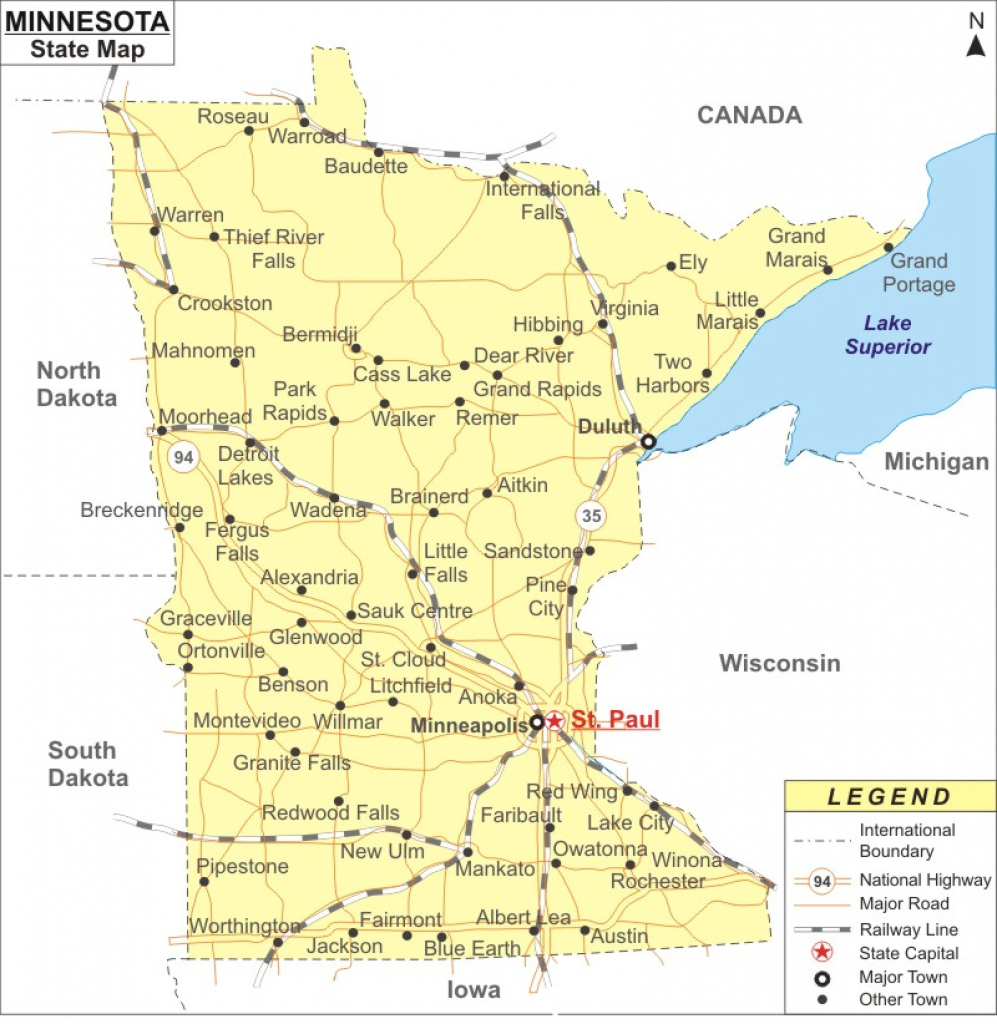 Minnesota Map Fabulous Mn Map Of Cities - Collection Of Map Pictures throughout Mn State Map Of Cities