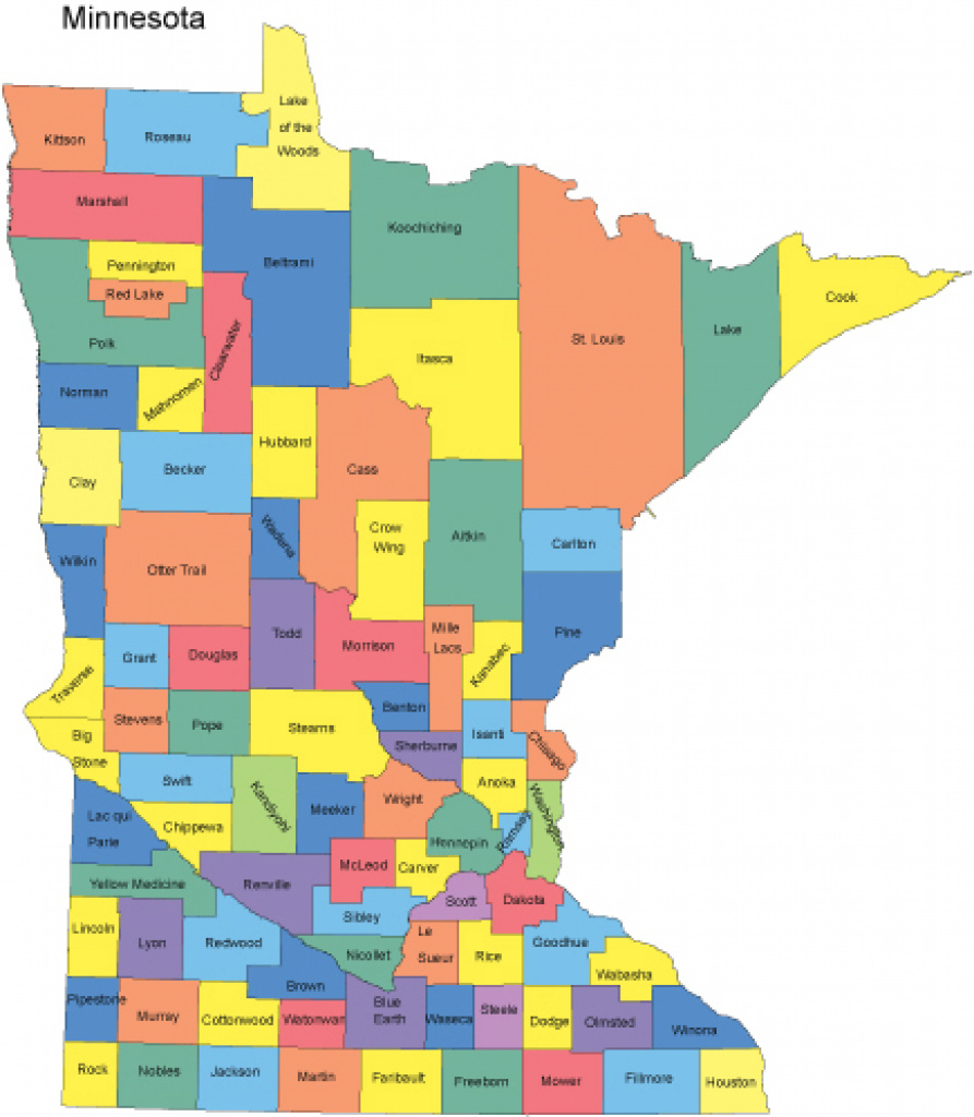 Minnesota Map With Counties within Minnesota State Map With Counties