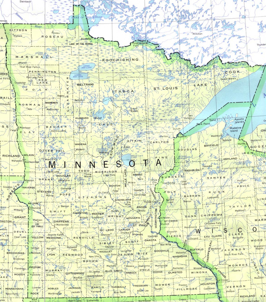Minnesota Maps - Perry-Castañeda Map Collection - Ut Library Online for Mn State Map Of Cities