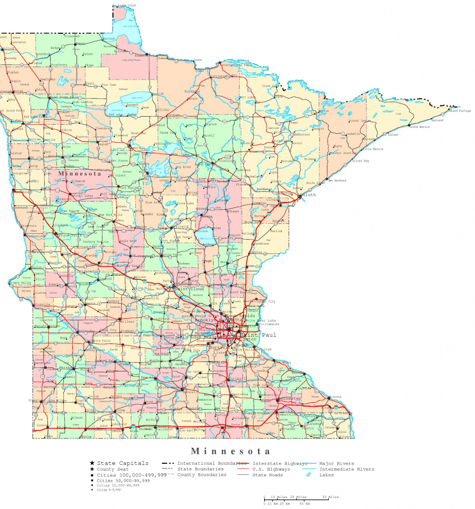 Minnesota Printable Map Good Minnesota Counties Map - Collection Of with regard to Minnesota State Map With Counties