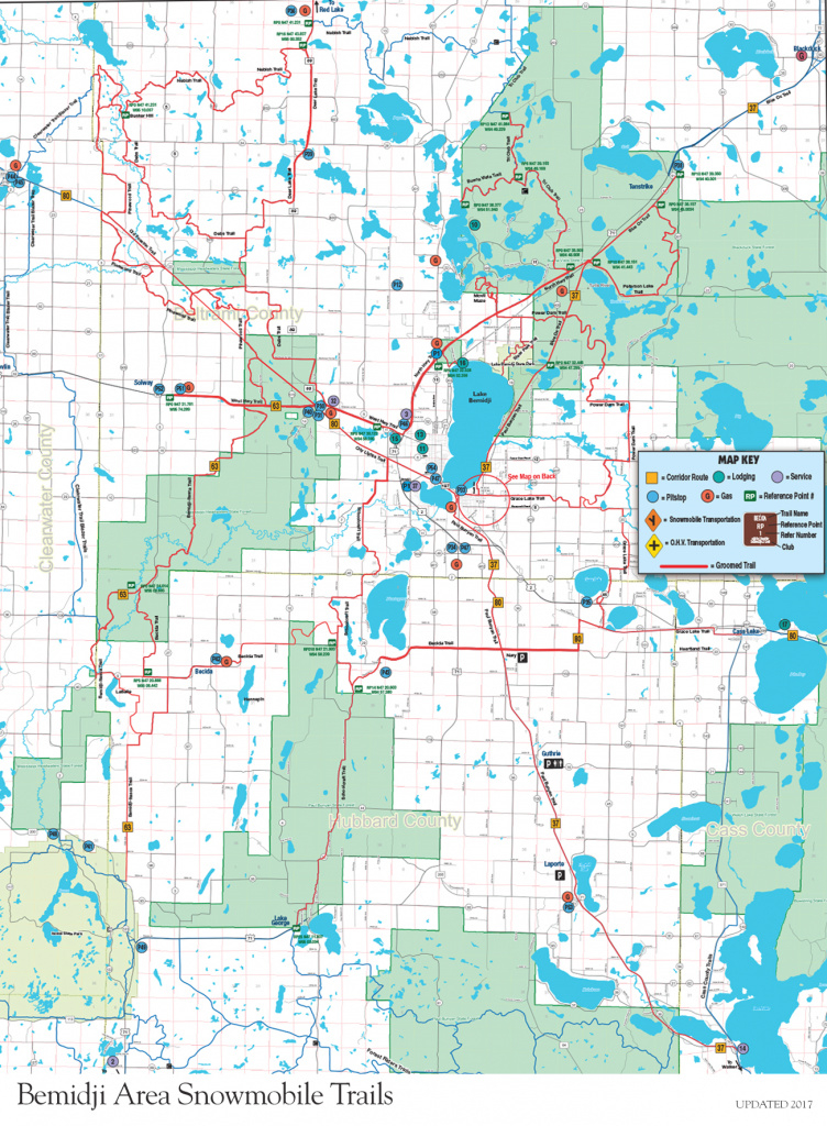 Minnesota Snowmobile Vacation And Trail Reports | Bemidji Mn regarding Itasca State Park Trail Map