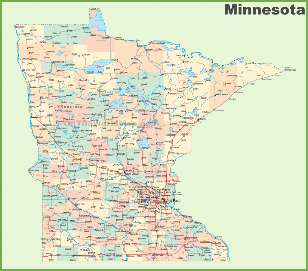 Minnesota State Map Cities And Travel Information   Download Free regarding Minnesota State Map With Counties
