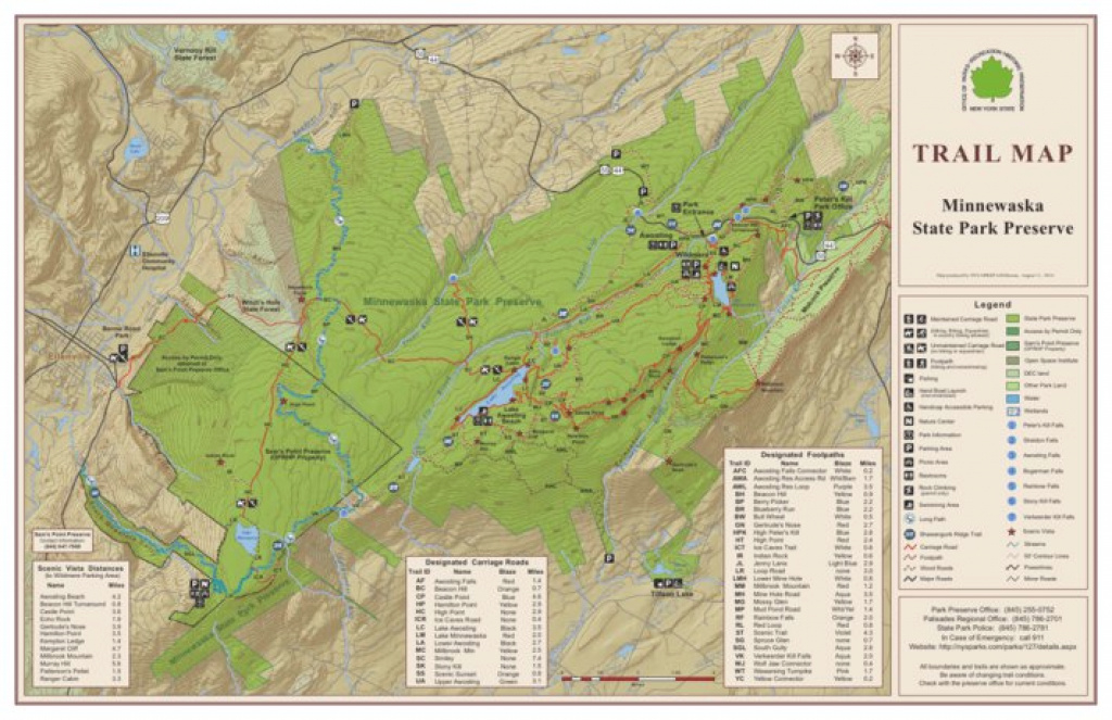 Minnewaska State Park Preserve Trail Map - New York State Parks pertaining to Minnewaska State Park Trail Map