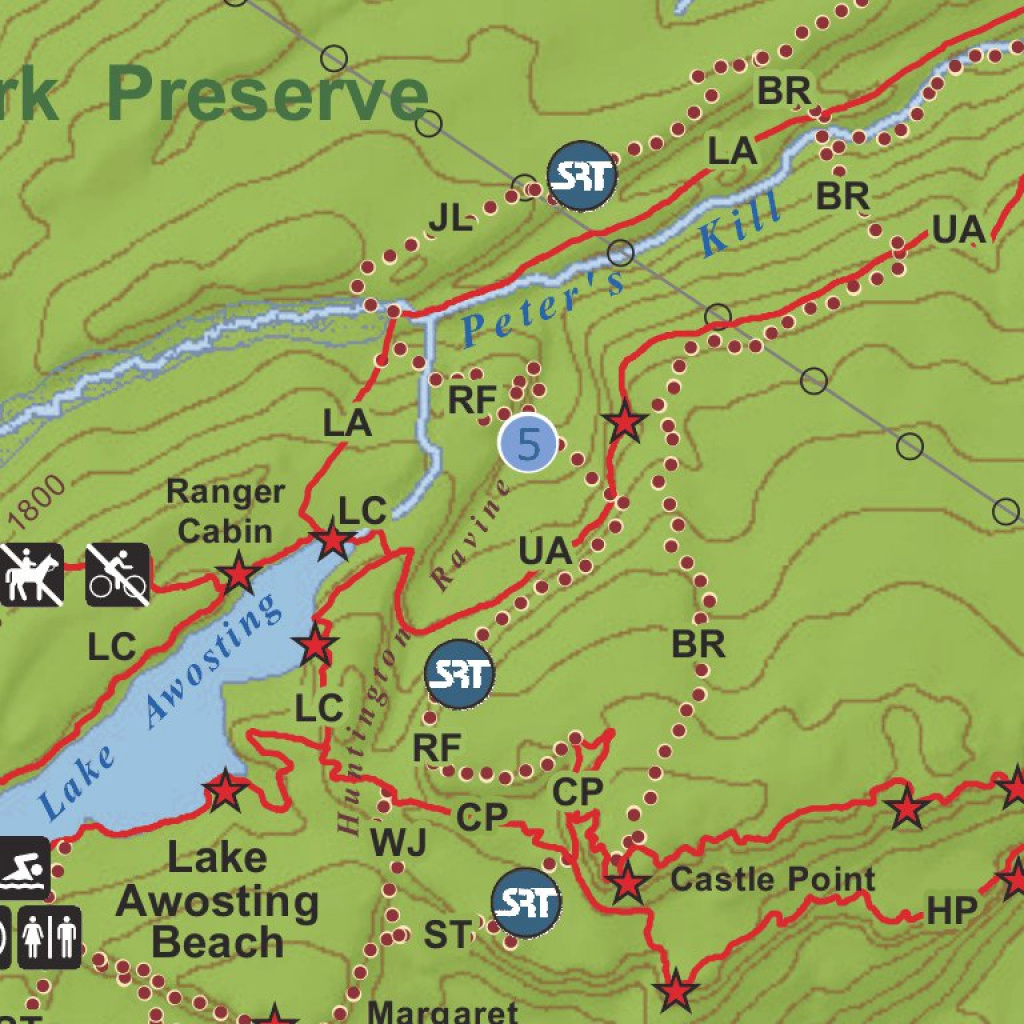 Minnewaska State Park Preserve Trail Map - New York State Parks regarding Minnewaska State Park Trail Map