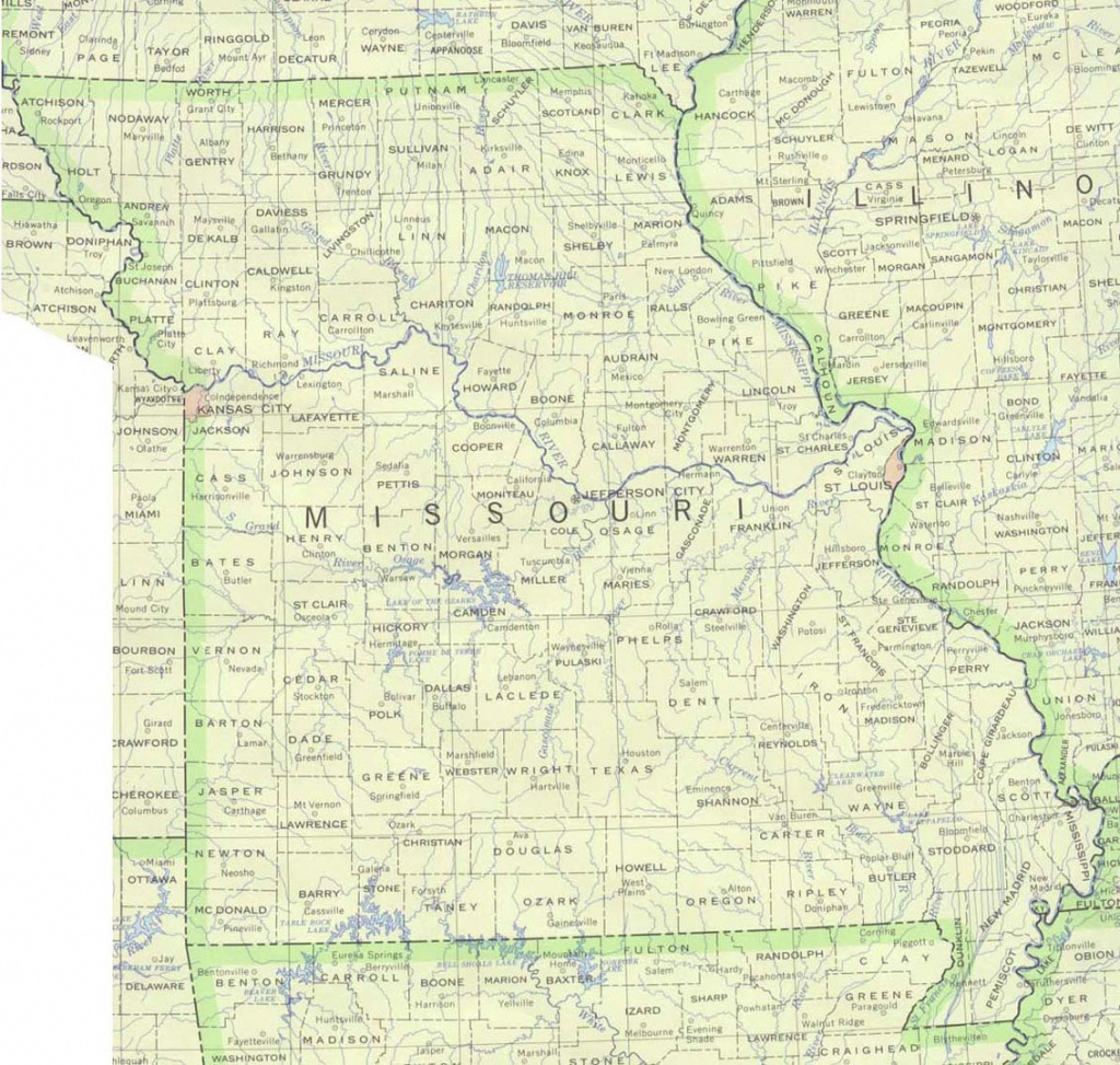 Missouri Maps - Perry-Castañeda Map Collection - Ut Library Online intended for State Reference Map Missouri