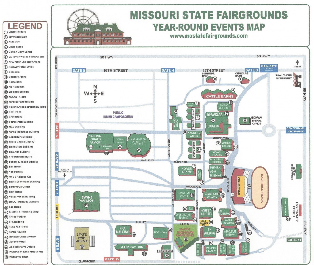 Missouri State Fairgrounds Map inside State Fairgrounds Map
