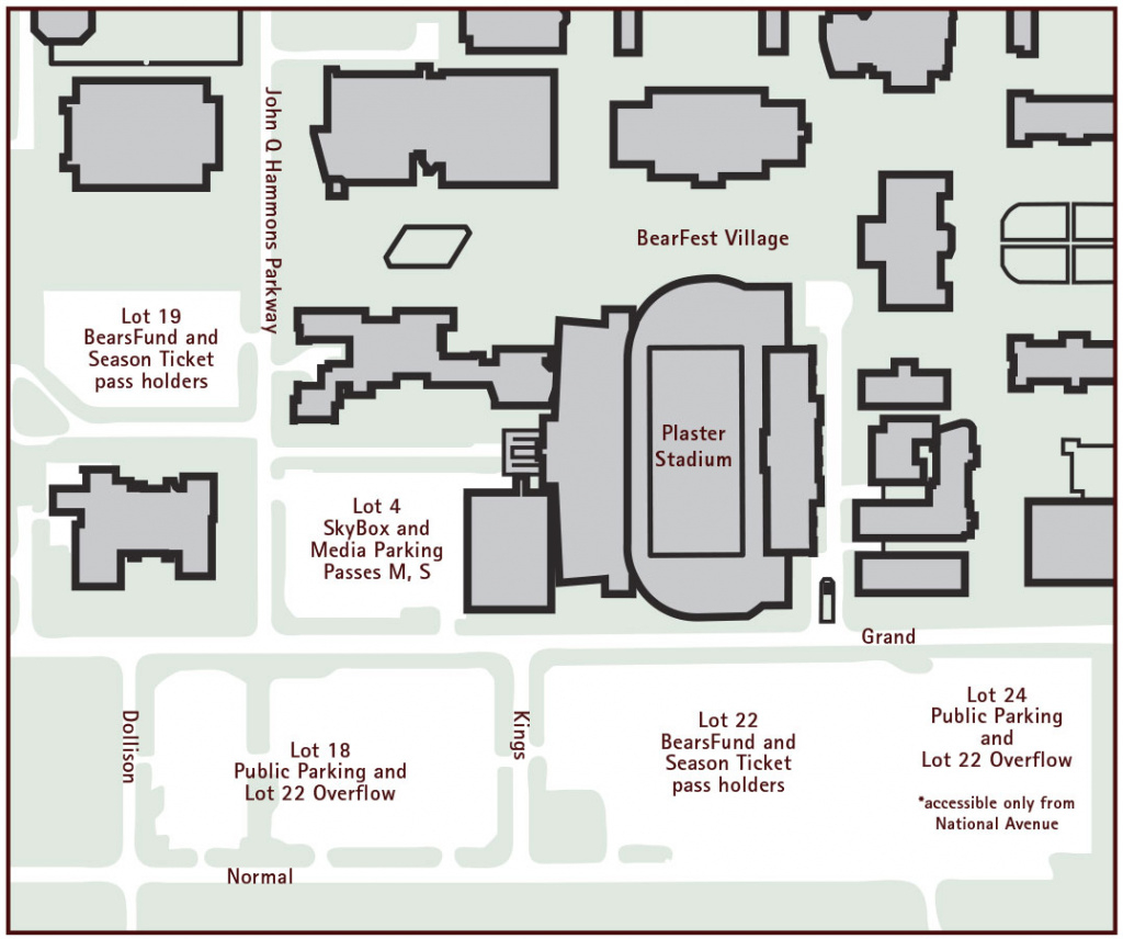 Missouri State University Official Athletic Site with regard to Missouri State Parking Map