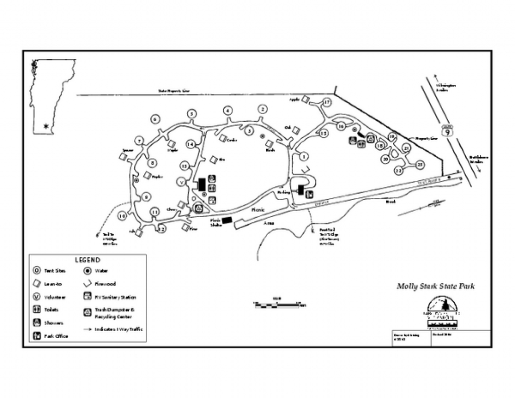 Molly Stark State Park Campground Map - Wilmington Vermont 05363 intended for Map Of Fort Robinson State Park