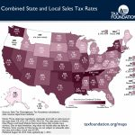 Monday Map: Combined State And Local Sales Tax Rates   Tax Foundation Intended For Sales Tax By State Map