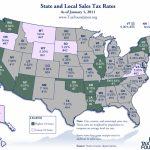 Monday Map: State And Local Sales Tax Rates, 2011   Tax Foundation With State Population Map