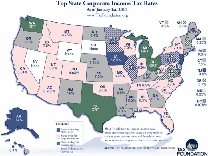State Income Tax Map