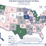 Monday Map: State Corporate Income Tax Rates   Tax Foundation Within Tax Rates By State Map