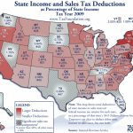 Monday Map: State Income And Sales Tax Deductions   Tax Foundation Within States With No Income Tax Map