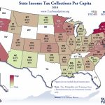 Monday Map: State Income Tax Collections Per Capita, 2010   Tax Inside States With No Income Tax Map