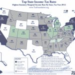 Monday Map: Top State Marginal Income Tax Rates, As Of January 1St With Regard To Tax Rates By State Map