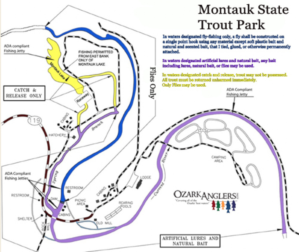 Montauk State Park - Maps - Montauk State Park - Ozarkanglers Forum intended for Montauk State Park Campground Map