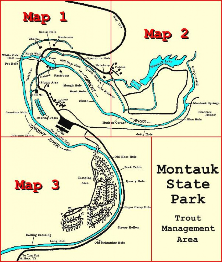 Montauk State Parktrout Management Area within Montauk State Park Camping Map
