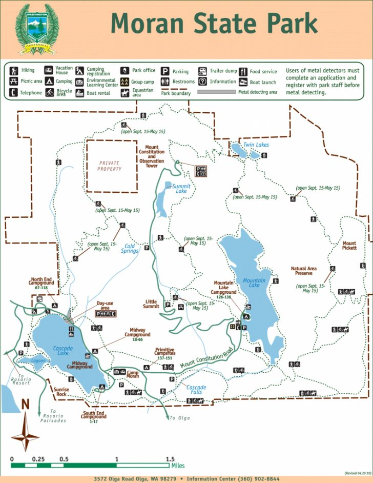 Washington State Campgrounds Map
