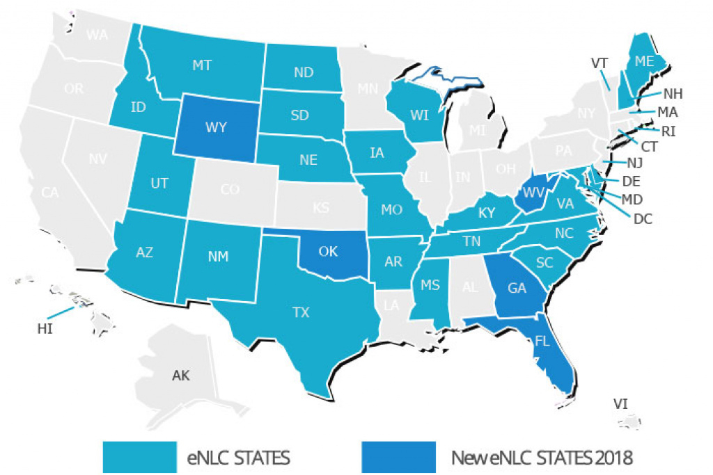 More Rn Travel Nurse Job Opportunities In Compact Nursing States with Nursing Compact States Map