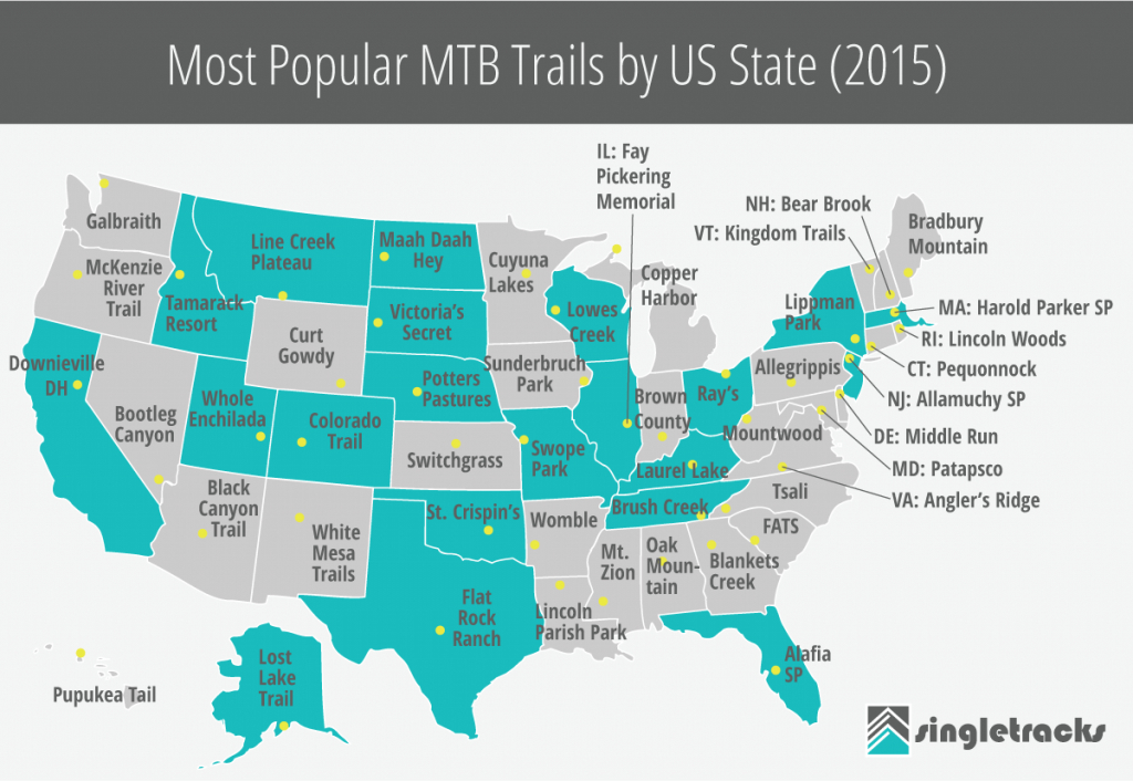 Most Popular Mountain Bike Trailsus State (2015) - Singletracks within Oak Mountain State Park Trail Map