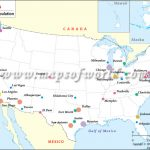 Most Populated Cities In Us, Map Of Major Cities Of Usa (By Population) For A Big Picture Of The United States Map