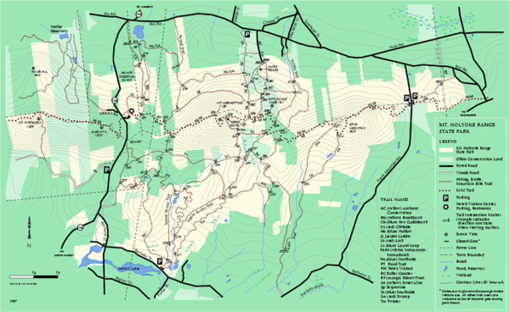 Mount Holyoke Range State Park Map - Amherst Ma • Mappery intended for Map Of Fort Robinson State Park