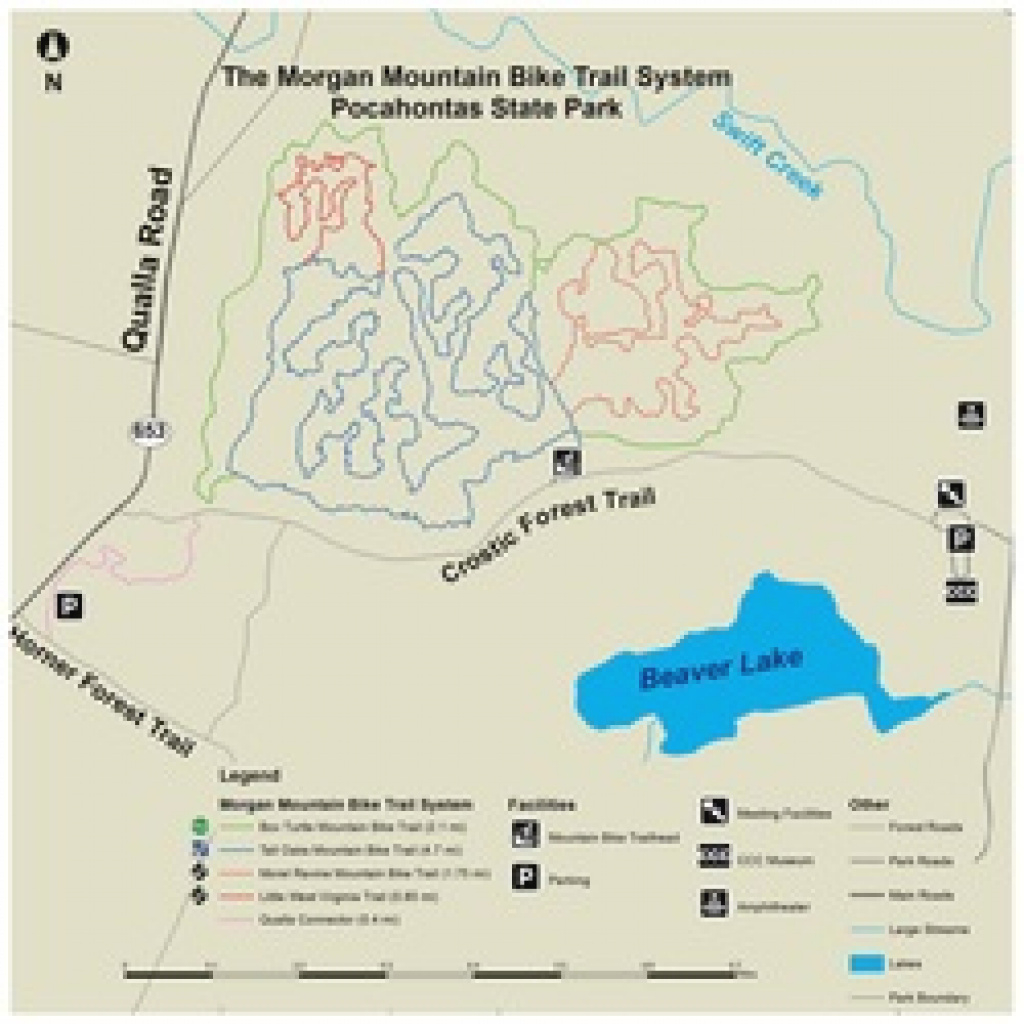 Mountain Bike Trail Info - Friends Of Pocahontas State Park intended for Pocahontas State Park Trail Map