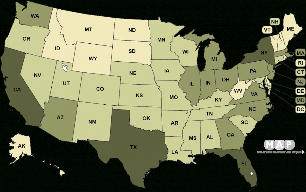 Movement Advancement Project | Lgbt Populations pertaining to Gay Marriage Us States Map