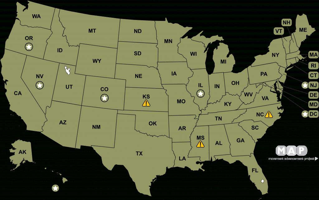 Movement Advancement Project | Marriage & Relationship Recognition Laws in Gay Marriage Us States Map