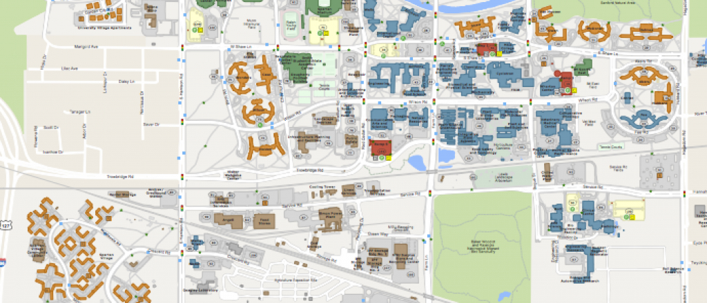 Msu Campus Maps - Michigan State University inside Michigan State Football Parking Lot Map
