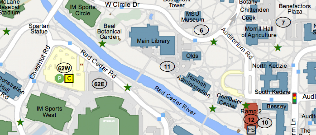 Msu Campus Maps - Michigan State University pertaining to Michigan State Football Parking Lot Map