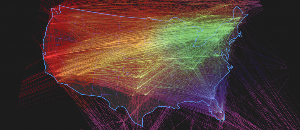 Multimedia Gallery - This Visualization Shows Internet Connections regarding United States Internet Map