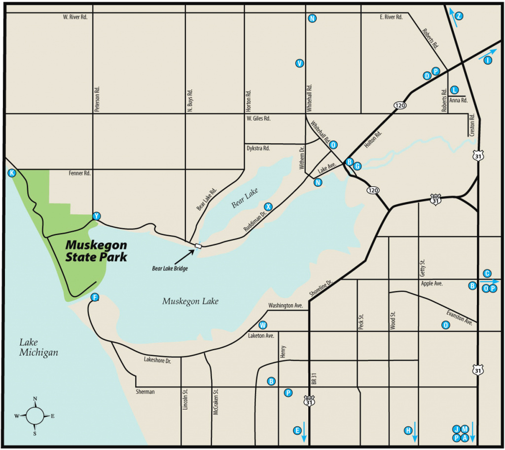 Muskegon & Duck Lake State Parksmaps & Area Guide - Shoreline with regard to Duck Lake State Park Trail Map