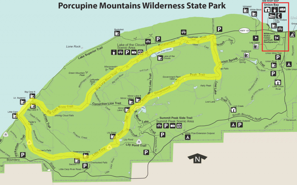 My Porkies Backpacking Trip - Joe's Diner throughout Map Of Porcupine Mountains State Park