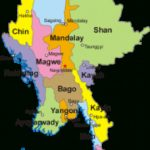 Myanmar   Wikipedia Regarding Map Of Myanmar States And Regions